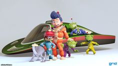 Scrameustache cast by Olivier Couston | Cartoon | 3D | CGSociety