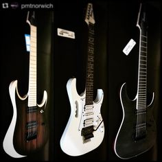 """PMT House Of Rock on Instagram: """": @pmtnorwich A beautiful trio of new in @ibanezuk_official in stock @pmtnorwich! #repost #regram #ibanez #guitar #electricguitar #metal #pmtnorwich #pmthouseofrock #sevenstring #sevenstrings #ibanezrg #rgd #downtune #ibanezguitars #ibanezgtrjunkie #ibanezgtrlover #guitarist #guitarplayer #guitarporn #metalhead #norwich"""""""