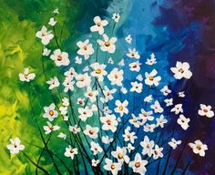 Twilight Garden Delight at Puerto Bello - Paint Nite Events Wine And Canvas, Pictures To Draw, White Paints, Painting Inspiration, Painting & Drawing, Local Bars, Painting Classes, Drawings, Garden