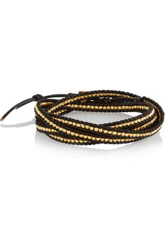 Chan Luu | Gold-plated and leather five wrap bracelet | NET-A-PORTER.COM