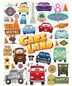 Cutest Little Town In Carburetor County - NEW artwork to celebrate Five Years of CARS LAND! I'll be joining artist Joey Chou for a special signing event at Ramone's House of Body Art in CARS LAND at Disney California Adventure Park - Saturday, June. Disney Cars Party, Disney Cars Birthday, Disney Pixar Cars, Car Themed Parties, Cars Birthday Parties, 2nd Birthday, Disney Cars Bedroom, Lightning Mcqueen Party, Festa Hot Wheels
