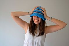 Women hats summerBucket hat Woman Hat Sun crochet hat by Notforeat Summer Hats For Women, Raw Amethyst, Women Hats, To Go, How To Make, Handmade Jewelry, Crochet Hats, Italy, Sun