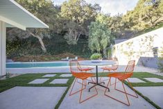 A Meticulously Updated Midcentury in L.A. Asks $1.49M - Photo 12 of 12 - An outdoor patio allows the owners to sunbathe after swimming.