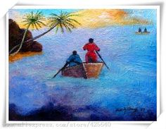 boating in the sea Seascape Oil painting on canvas hight Quality Hand-painted Painting Home Decor paints Wall art paint Cheap Paintings, Oil Painting On Canvas, Boating, Sailing, Home And Garden, Hand Painted, Japanese, Sea, Wall Art