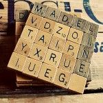 diy scrabble coasters plus 49 more recycled crafts