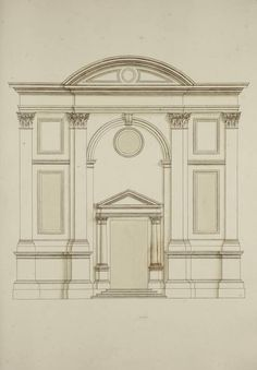 [Elevation of the Chiesa dell'Abbazia della Misericordia, Venice]. King George, Venice, Color, Colour, Colors