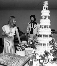 Patti Boyd and Eric Clapton at their wedding, march 1979