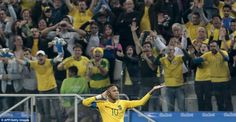 Neymar conducts the Brazil-heavy crowd in Sao Paulo after scoring a magnificent…