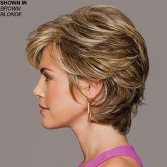 Gabor Wigs - Gratitude An all-over, loosely layered, cropped shag wig with added volume in the crown Short Layered Haircuts, Short Hairstyles For Women, Short Bobs, Pixie Haircuts, Pixie Hairstyles, Short Hair With Layers, Short Hair Cuts For Women, Medium Hair Styles, Curly Hair Styles