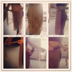 Struggling to style your clip-in hair extensions at home? Well we have a top tip for you... Attach your clip-in hair extensions to the top of your leggings like so. Once the extensions are secure, begin styling. This simple trick works every time! #hair #hairtip #toptip #hairstyling #hairpiece #remyextensions