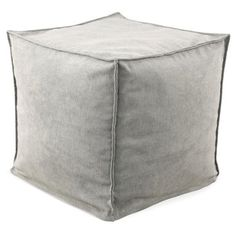 Check out this item at One Kings Lane! Henley Square Pouf, Light Gray
