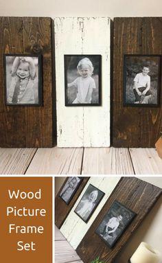 Perfect little rustic picture frame set! #affiliate #homedecor #rustic #farmhouse