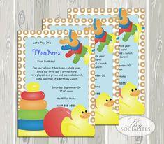 Baby Shower Invitation/ Baby Toys Baby Shower/ by ShySocialites, $15.00