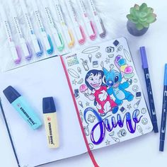 Add a sparkle of childhood magic to your Bullet Journal with these 69 beautiful Disney Inspired Bullet Journal Layouts. Plus get a free printable set of Disney stickers. Birthday Bullet Journal, March Bullet Journal, Bullet Journal Cover Ideas, Bullet Journal Lettering Ideas, Bullet Journal Tracker, Bullet Journal Writing, Bullet Journal Ideas Pages, Bullet Journal Layout, Bullet Journal Inspiration