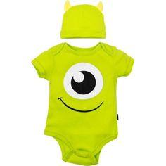 Disney Pixar Monsters Inc. Mike Wazowski Baby Costume Bodysuit and Hat Green Months) Baby Boys, Baby Kostüm, Old Halloween Costumes, Baby Costumes, Disney Halloween, Halloween Horror, Best Disney Costumes, Disney Pixar, Mike Wazowski Costume