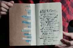 love kim smith's hand lettered art journal. art equals happy.