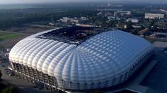 Arena Poznan, Poznan, Poland Soccer Stadium, Football Stadiums, Uefa Euro 2016, European Football, Uefa Champions League, Town And Country, Modern Architecture, Zoom, Buildings