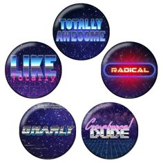 cosplayfangear:  GET RADICAL WITH THESE NEW #80s #PinbackButtons !! Available now on CosplayFanGear.com and our Amazon store! Sold as a bundle!  #80smovie #80smovies #1980s #retro #radical #cowabunga #cowabungadude #aesthetic #80saesthetic #awesome #totallyawesome #liketotally #80sfashion #80sart #instalike #instacool #insta80s #80sparty #buttons #badges #vintage http://ift.tt/2mNsVXm  #anime #cosplay #costume #otaku #gamer #videogames