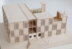 This invited competition for the new graduate accommodation of Churchill College Cambridge was inspired by historic precedents including 'Heraldic' iconography prevalent in many college gatehouse lodges. Churchill, Lodges, Decorative Boxes, Architecture Models, College, Architects, Projects, Inspiration, Biblical Inspiration