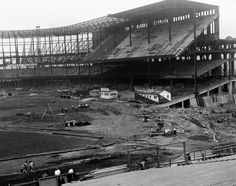 The Old Yankee Stadium was home to New York's baseball team for 85 years before it was torn down in 2010. Built in the South Bronx in 1923, the ballpark was constructed for $2.4 million and was one of the largest venues in MLB history. In this snapshot, taken on Oct. 16, 1922, construction is nearly complete on Old Yankee Stadium's upper and lower decks.