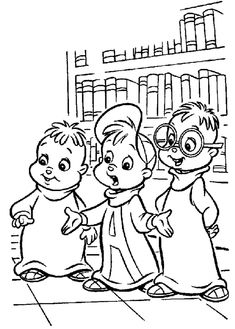 coloring page Alvin and the Chipmunks Kids-n-Fun