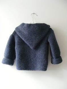 free Ravelry: Paletot à capuche / Hooded baby jacket pattern by Mme Bottedefoin