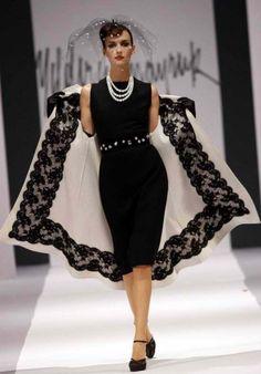 Design by runway designer, Yildirim Mayruk of Turkey.  Inspiration a la 1950s!