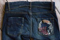 Desigual size 24 o womens slim skinny cargo dark jeans stretch embroidered Dark Jeans, Stretch Jeans, Skinny Jeans, Slim, Cotton, Women, Fashion, Moda, Fashion Styles