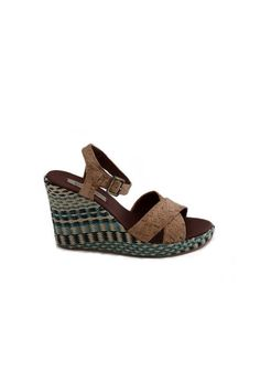 Miko - nae: Add some color, texture, and print all at once with these stylish wedges. Made of vegan cork and CO2-free manufactured ecological microfiber, they are an eco-friendly and animal-friendly shoe you can wear both day and night.