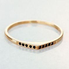 Black Diamonds Rings / Bohemian Wedding Bands (instagram: the_lane)