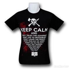 Images of Walking Dead Keep Calm And T-Shirt
