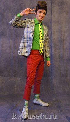 Стиляжный клетчатый пиджак