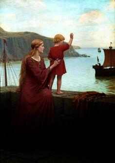Farewell Edmund Blair Leighton (British, Oil on Williamson Art Gallery Museum. Creation Art, Art Ancien, Images Esthétiques, Pre Raphaelite, Classical Art, Renaissance Art, Pics Art, Art Plastique, Pretty Art