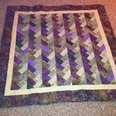 """dragonfly summer"" friendship braid quilt"