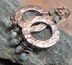 Azure Fringe Antiqued Copper and Amazonite by ThePurpleLilyDesigns