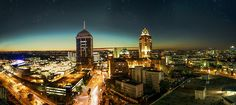 Sandton skyline at night