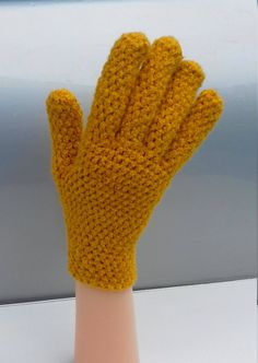 Cashmere gloves, hand made crochet finger gloves, hand krochet mittens winter warm gloves by Dorsiana on Etsy