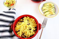 Rice and bean cooked in the oven