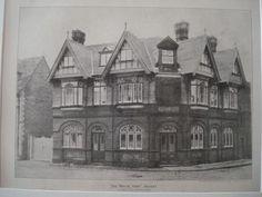 """White Hart"" in Havant, England, 1890. A. Edwin Stallard. Photo #victorianarchitecture"