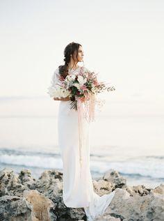 Bridal styled photo shoot by Katie Grant featuring Bride la Boheme accessories (Insta ) Headpiece Wedding, Bridal Headpieces, Bridal Sash, Bridal Accessories, Bridal Style, Veil, Photo Shoot, Bride, Sunset