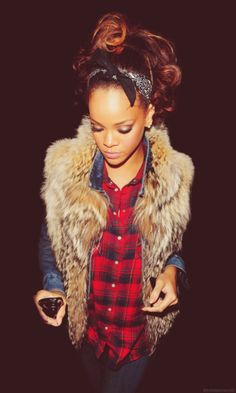 Rihanna and your clothes and style. jel.