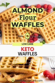 Low Carb Waffles, Healthy Waffles, Gluten Free Waffles, Healthy Snacks, Healthy Eats, Healthy Recipes, Keto Waffle, Waffle Recipes, Top Recipes