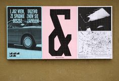 "Jasio Stefanski (Left) and Ryan Gerald Nelson (Right), Ficciones Typografika 1552-1554 (72""x36""). Installed on December 3, 2017. More: http://ficciones-typografika.tumblr.com/ Part two of two."