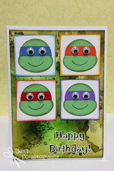 Jen's Scraptography: Teenage Mutant Ninja Turtle Birthday Card