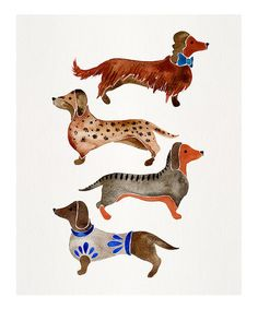 Love this Dachshunds Print on #zulily! #zulilyfinds