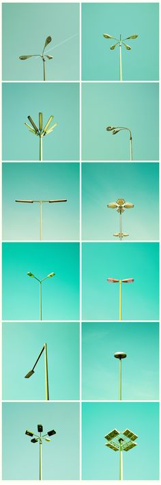 Streetlamp typology from matthiasheiderich - they look like flowers :)