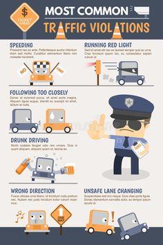 Illustration about Most common Traffic Violation Infographic. Illustration of light, enforcement, drug - 52052725 Safe Driving Tips, Driving Safety, Infographic Examples, Infographics, Learning To Drive, Driving School, Most Common, Car Hacks, Design Reference