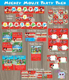 Mickey Mouse Party Decorations Mickey Mouse by CutePixels on Etsy