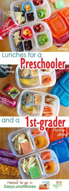 A week of school lunch inspiration from Painting Sunny. For preschooler and first-grader More lunches & DETAILS ► http://bit.ly/17rH2Il