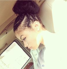 Protective styling: India Westbrooks braids and bun